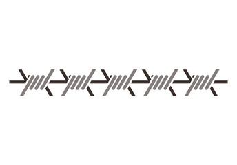 silhouette metallic barbed wire icon vector illustration