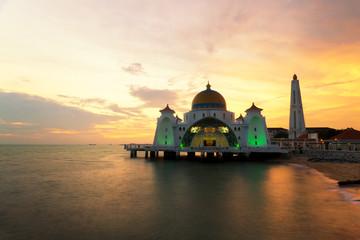 Malacca islam mosqiue is beutiful islam mosque in Malacca, Malaysia