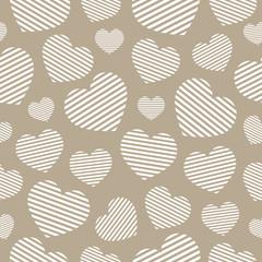 Love seamless geometric pattern on Valentine's Day. Romantic vec