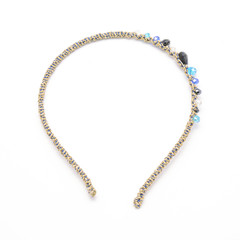 hair hoop with crystal beads isolated on white