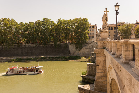 River boat cruise in Rome Italy