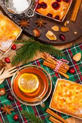 Christmas Holiday Tea Time. Selective focus.
