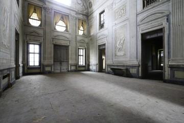 Urbex - ancient abandoned baroque room