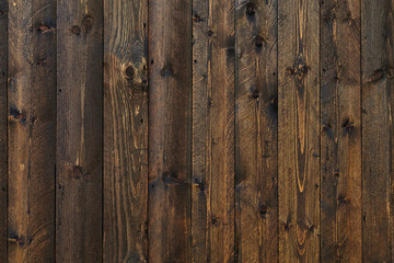 background wall from boards brown closeup