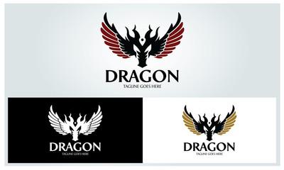 Dragon logo design template ,Vector illustration