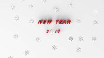 new year with snow