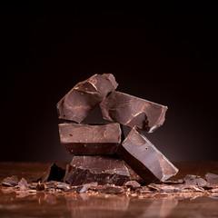 Pieces dark chocolate