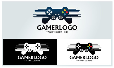 Game logo design template ,Vector illustration