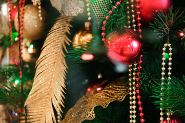 Happy New Year and Merry Christmas decoration card background/te