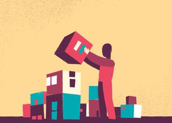 Costruire una città colorata