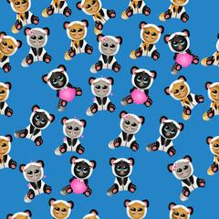 cat in panda costume