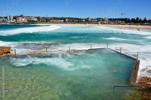 Rock pool at Bondi beach in Sydney, Australia.