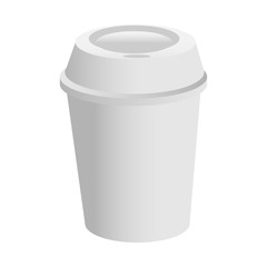 Coffee cup on a white background. Vector illustration