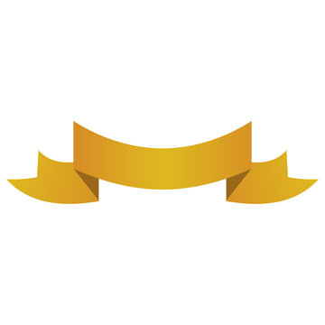 banner ribbon yellow graphic vector illustration eps 10