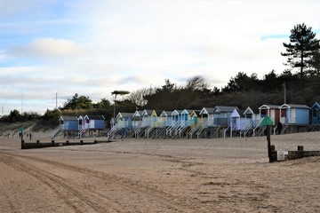 beach huts coast wells norfolk