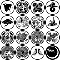 鳥 和風マーク・紋章・家紋