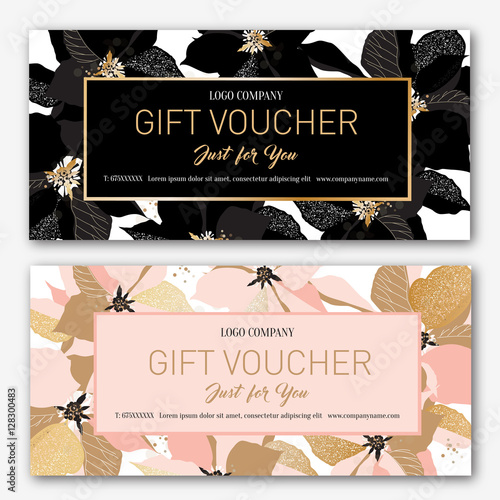 Gift Voucher Birthday Card Coupon Template Background For The