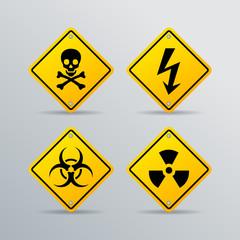 Danger vector sign
