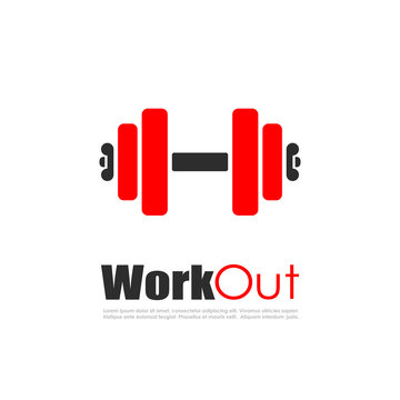 Fitness workout vector logo