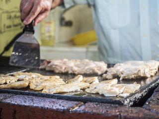 kubanische Küche grillen von fisch und fleisch