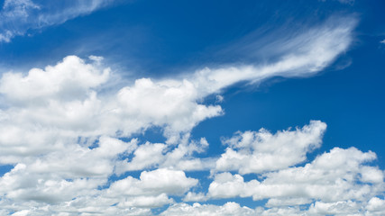 Beautiful white clouds with blue sky