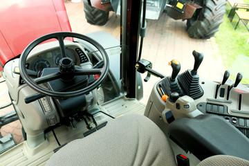 Modern tractor cabin interior
