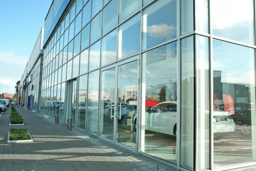 Building of car dealership and service centre