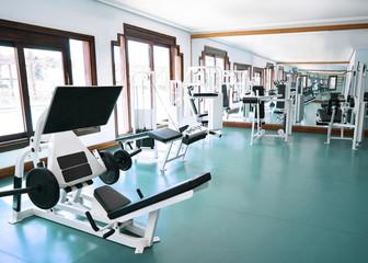 Fitness club interior