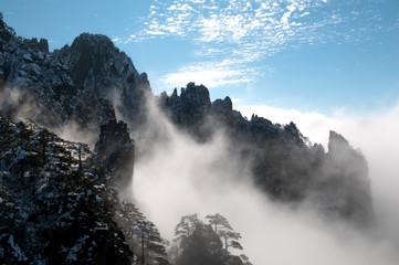 황산의 아침 풍경