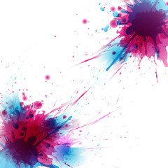 Abstract artistic Background of colors stain formed