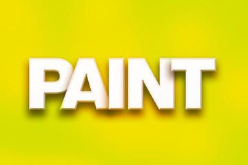 Paint Concept Colorful Word Art