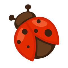 Ladybug. Icon of bright small insect