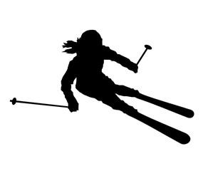 Skifahrern Ski Frau