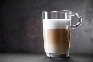 Glass of latte