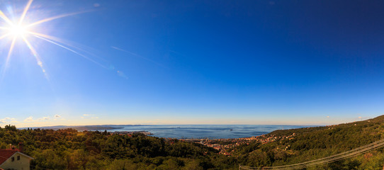 The gulf of trieste in a sunny day