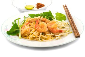 Thai style stir fried rice noodles