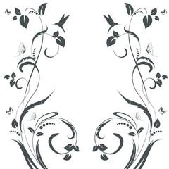 elegant floral swirl frame for your design