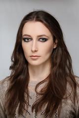 Face of beautiful young woman. Beauty portrait, fresh skin. Natu
