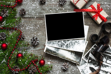 Blank christmas photo frame