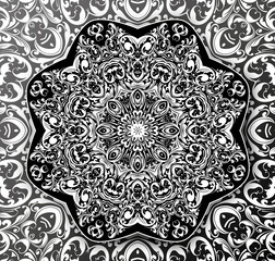 Mandala Eastern abstract motif. Hand painted texture background. Islam, Arabic, Indian, Ottoman ornament pattern. Abstract flower. Decorative elements for design print. EPS 10