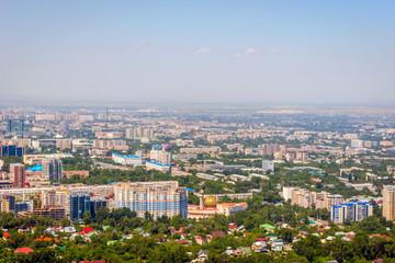 View over Almaty skyline