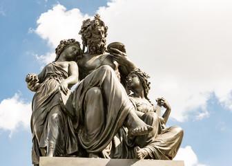 Aluminium Prints Artistic monument Monument in Dresden