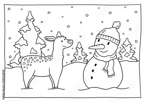 Ausmalbild Winter Stockfotos Und Lizenzfreie Bilder Auf Fotolia Com
