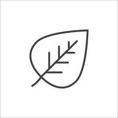Eco symbol. Leaf line icon, outline vector sign, linear pictogram isolated on white. logo illustration