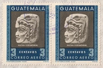 Ceremonial Stone.Postage stamp Guatemala 1953