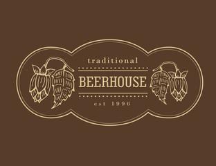 Original vintage retro logo for beer.