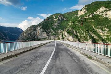 Canyon of Piva lake, Montenegro. Beautiful nature landscape