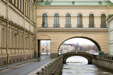 Saint-Peresburg. Russia. November 27 2016. View of Winter Canal