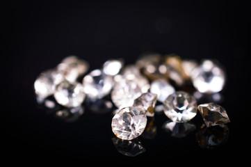 diamonds on a dark background