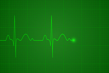 Heartbeat on the monitor, vector illustration, background
